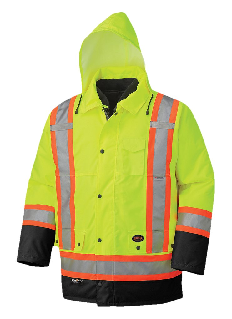 Pioneer Hi-Viz Waterproof 6-In-1 Parka V1120161 - 5021BB