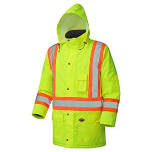 Pioneer Hi-Viz Waterproof Winter Quilted Safety Parka