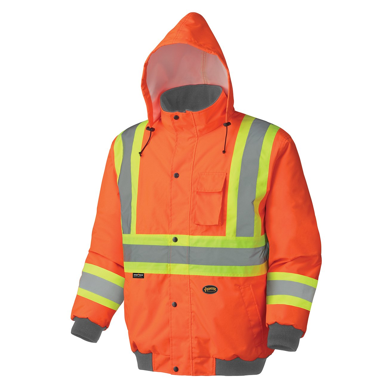 Pioneer Hi-Viz Waterproof Winter Quilted Safety Bomber