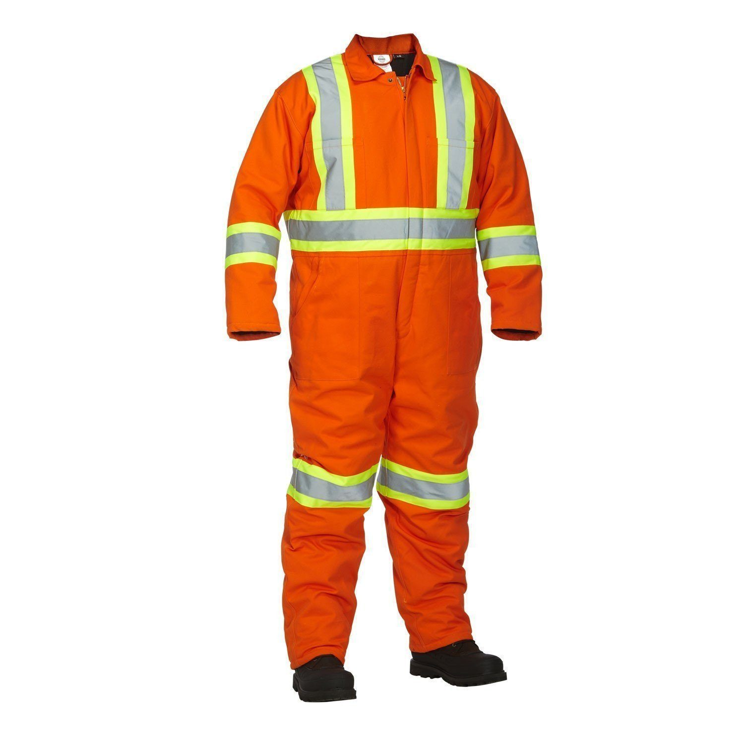 Forcefield Hi-Vis Safety Lined Coverall 024-OR34