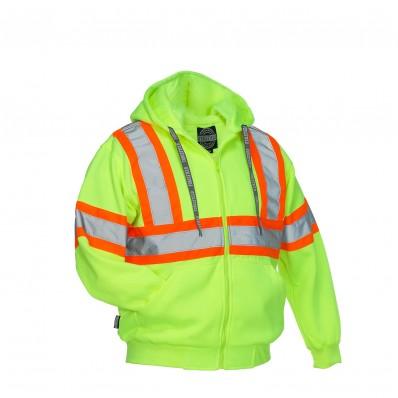 Forcefield Hi-Vis Deluxe Safety Hoodie (Attached Hood)