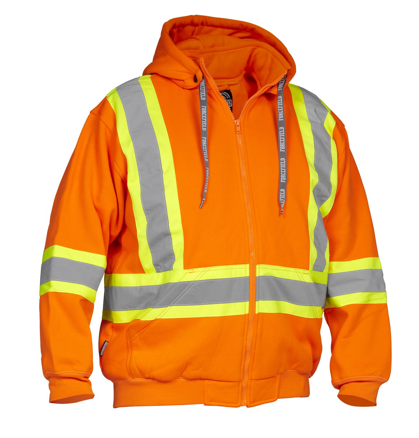 Forcefield Hi-Vis Safety Hoodie (Detachable Hood) 024-P814OR