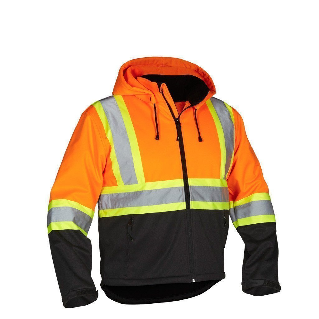 Forcefield Hi-Vis Safety Hoodie (Detachable Hood water Repel