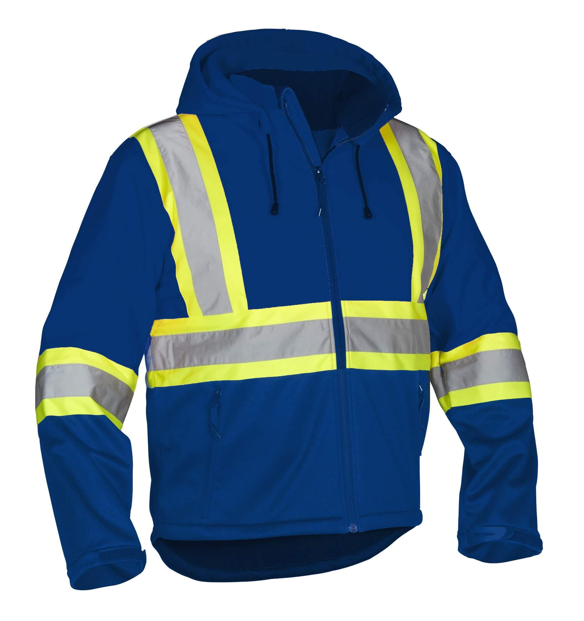 Forcefield Hi-Vis Safety Hoodie (Detachable Hood and Water R