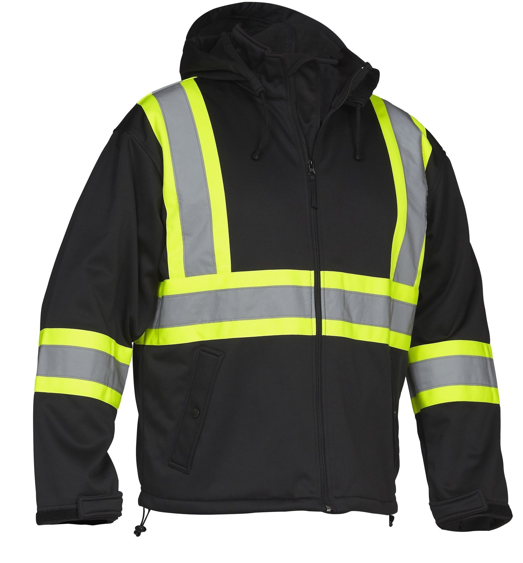 Forcefield Hi-Vis Safety Softshell Rain Jacket 023-EN147BK