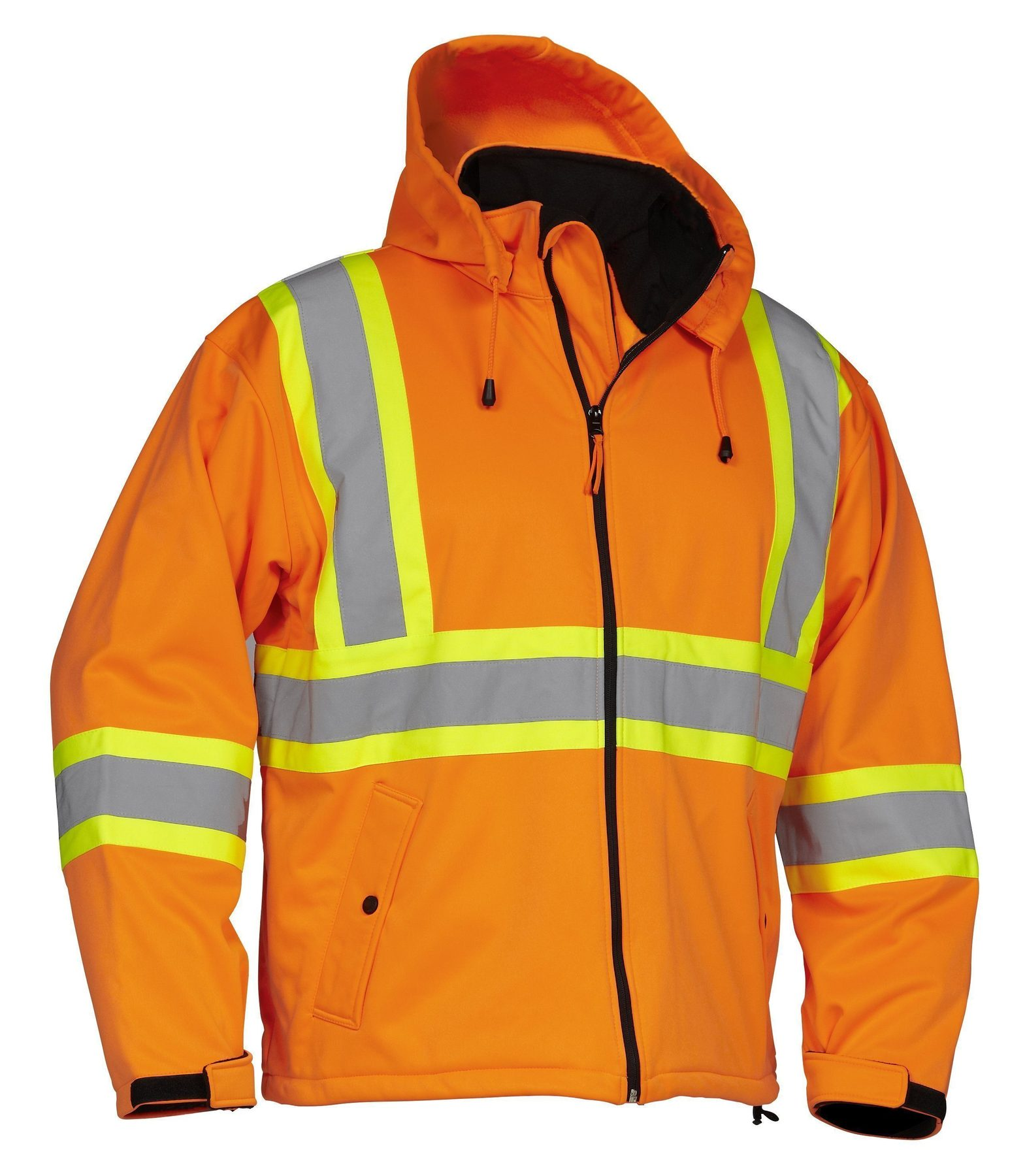 Forcefield Hi-Vis Safety Softshell Rain Jacket 023-EN147OR