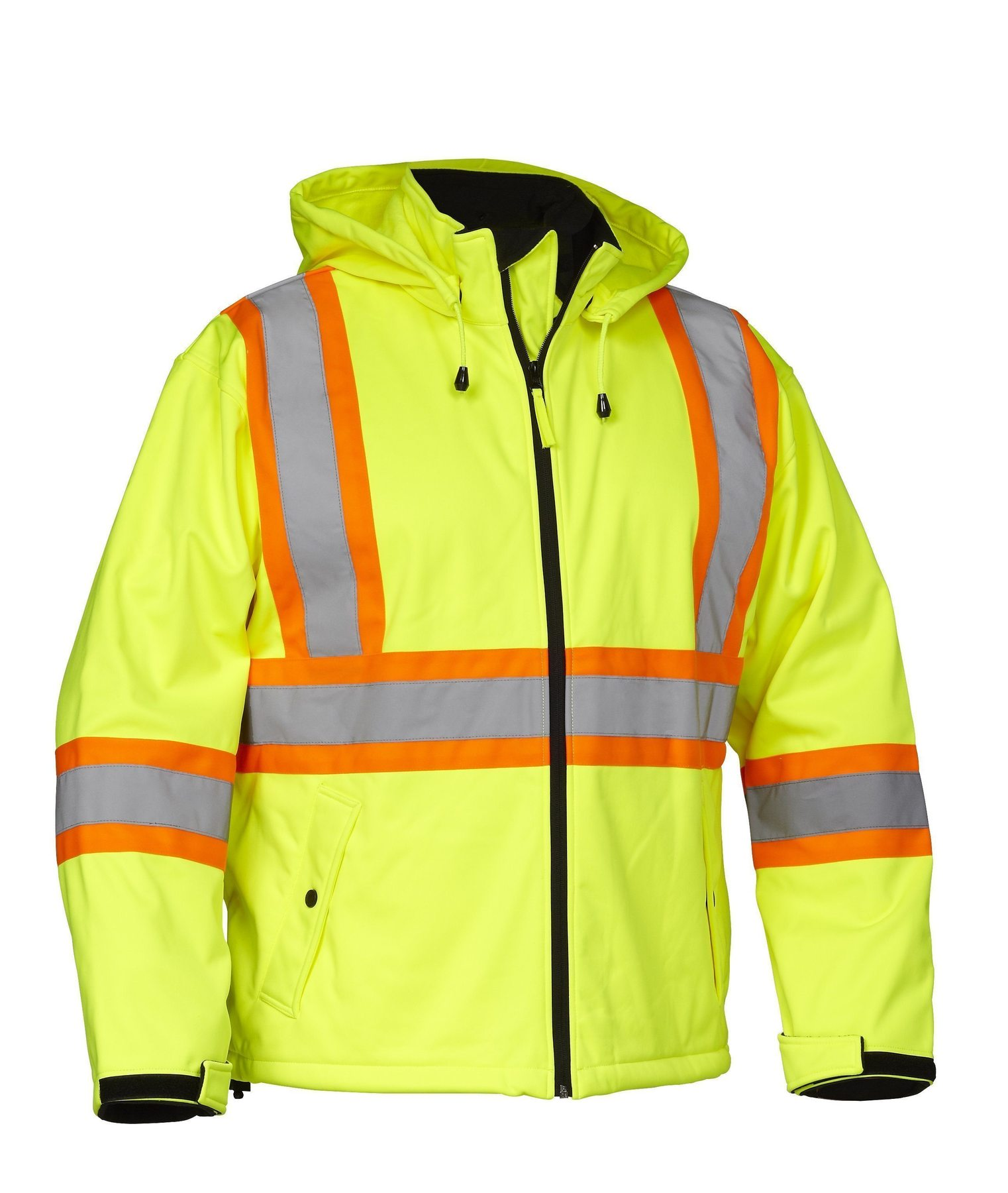 Forcefield Hi-Vis Safety Softshell Rain Jacket 023-EN147LY
