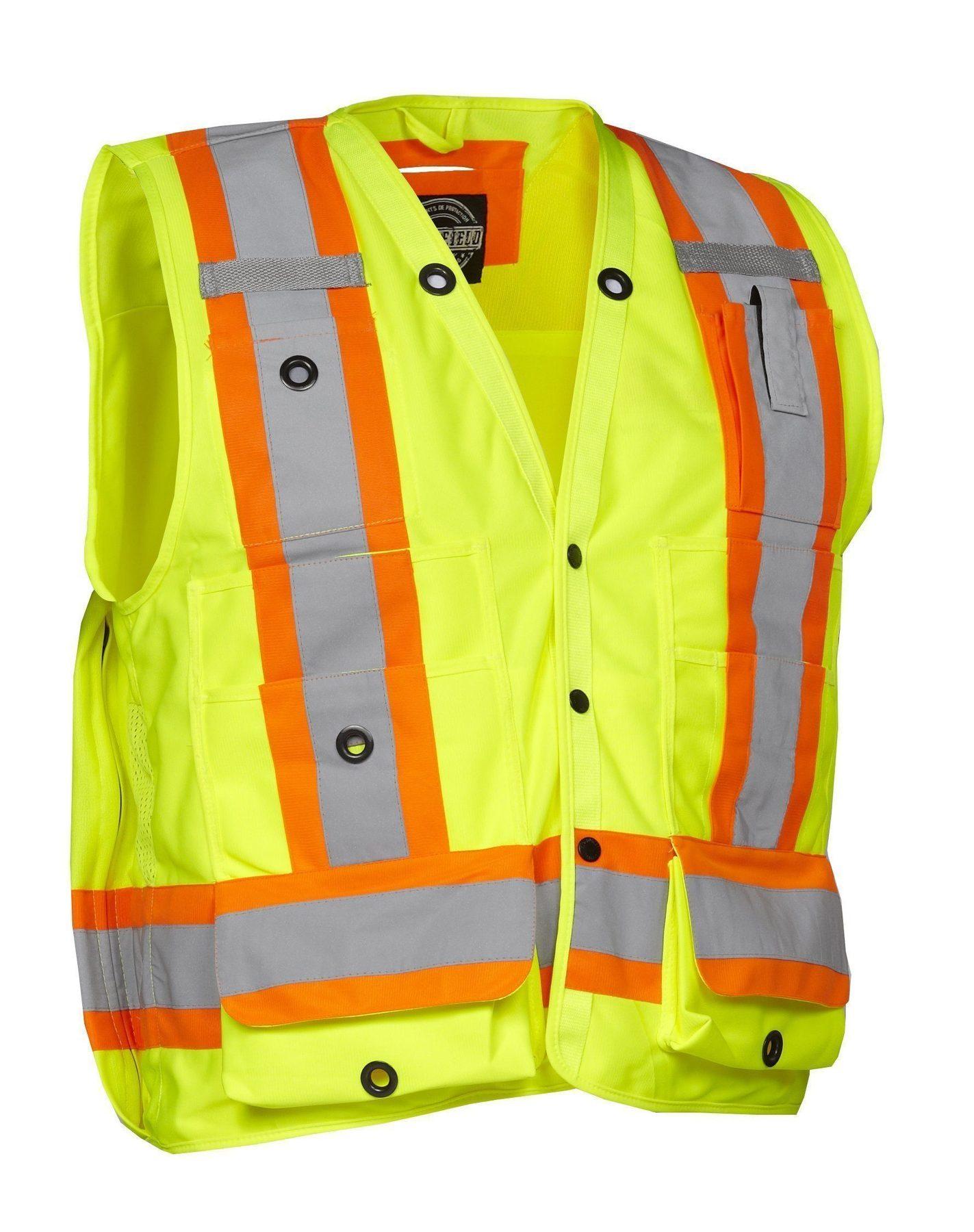 Forcefield Hi-Vis Surveyors Vest 022-TVSURV168LY