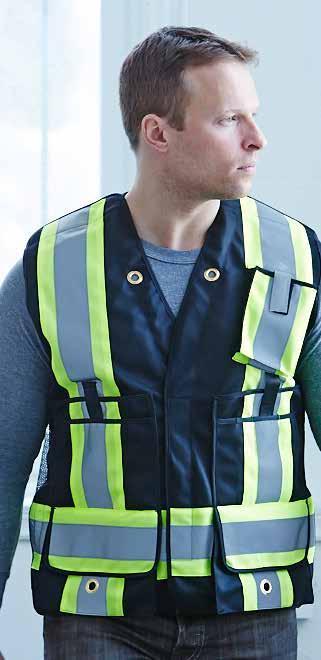 Forcefield Hi-Vis Mesh Back Surveyor Vest (5 Pt Tear-Away)