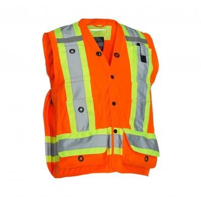 Forcefield Hi-Vis Mesh Back Surveyors Vest