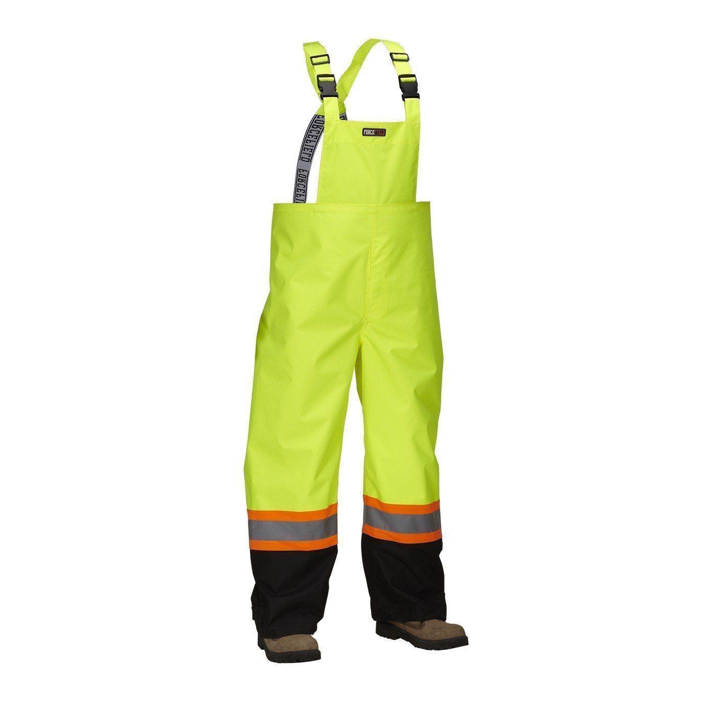 Forcefield Hi-Vis Safety Rain Overall 023-HVRBPLYT