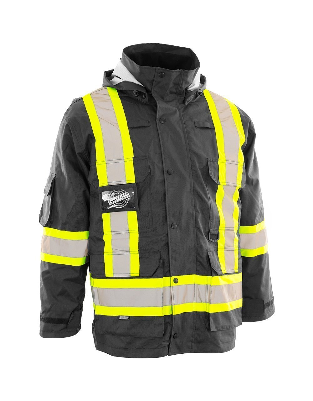Forcefield Hi-Vis Safety Wind Breaker Jacket - 023-EV148BK