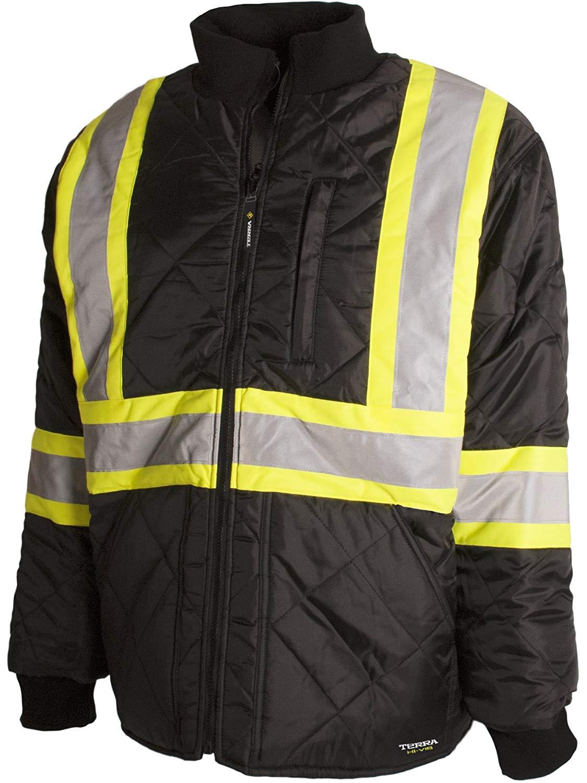 BBH Hi-Viz Quilted Freezer Jacket Freezer- X-Large Black