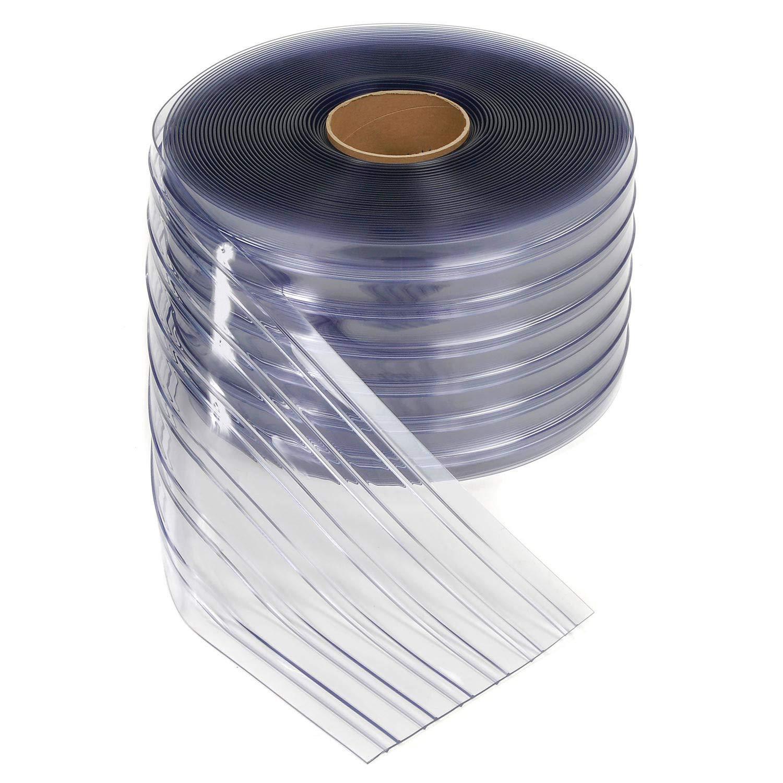 "Strip Curtain-Thick Ribbed Standard PVC-8"" x .072"" (150' r)"